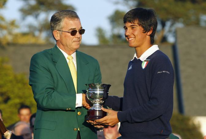 Matteo Manassero riceve la Silver Sterling Cup